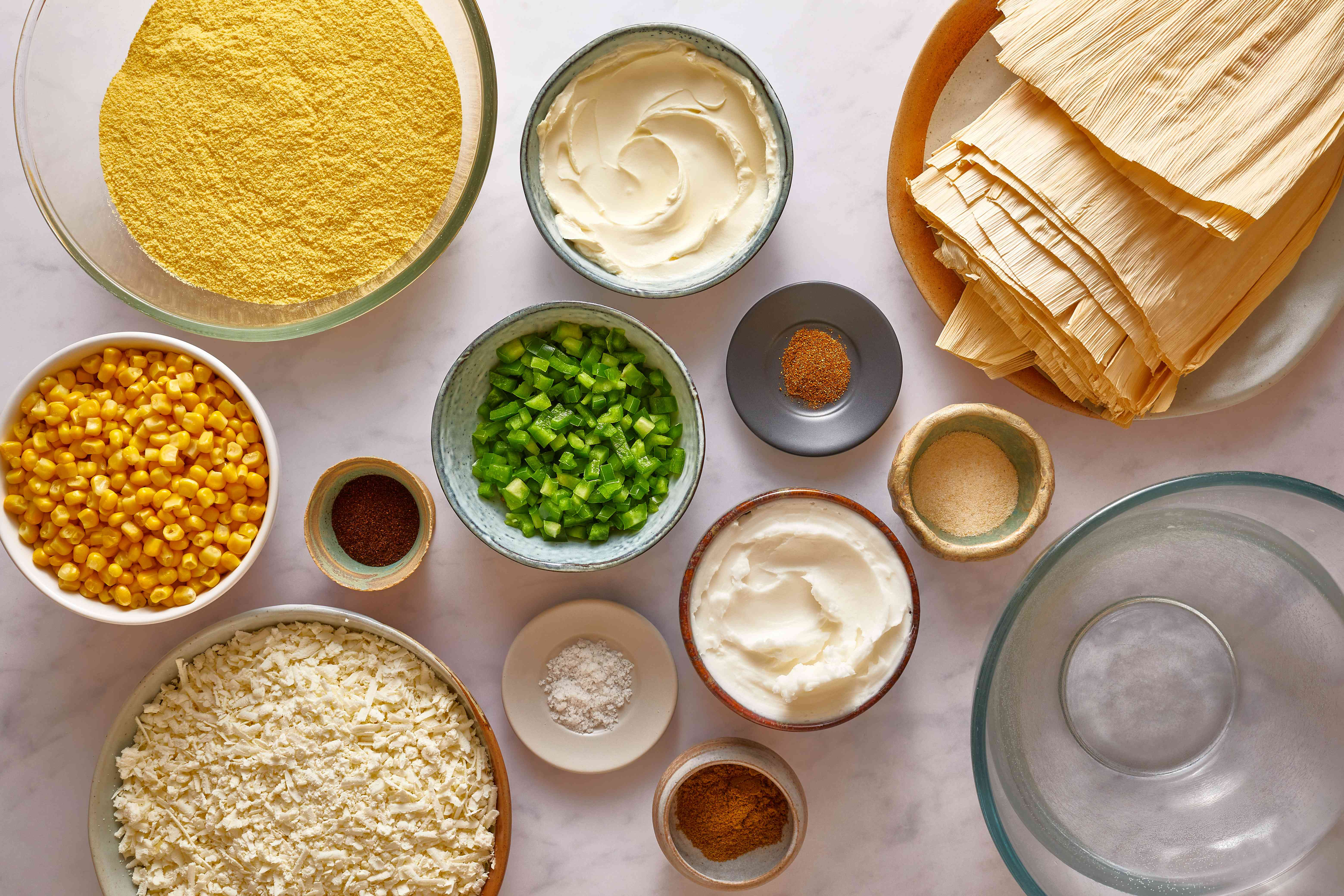 Corn, Green Chile, and Cheese Tamales ingredients