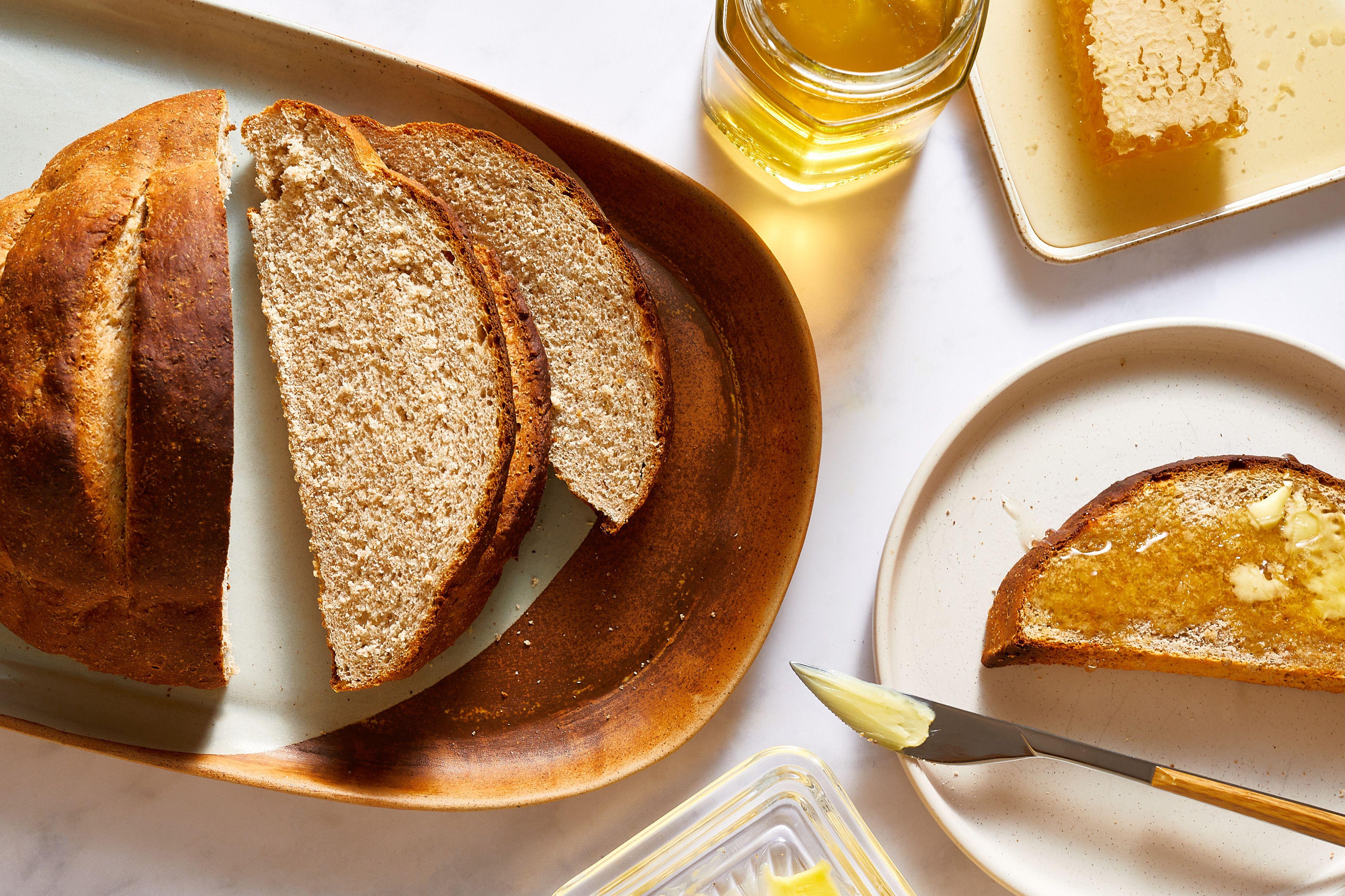 Crusty Greek Country Bread Horiatiko Psomi Recipe