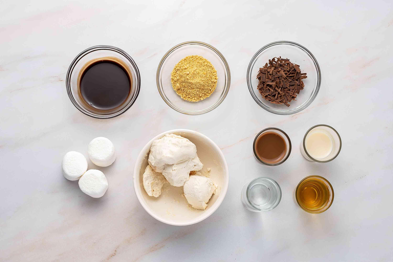 Boozy S'mores Milkshake ingredients