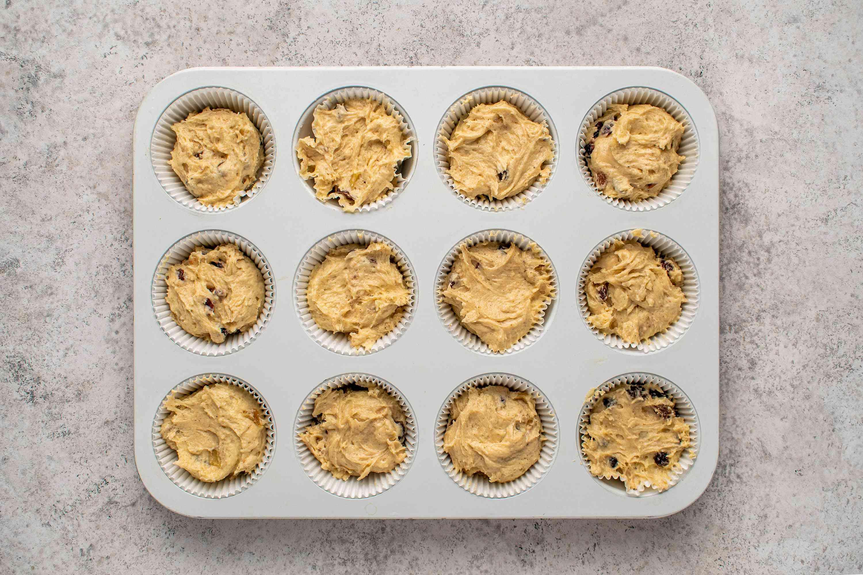 cupcake batter in cupcake tins