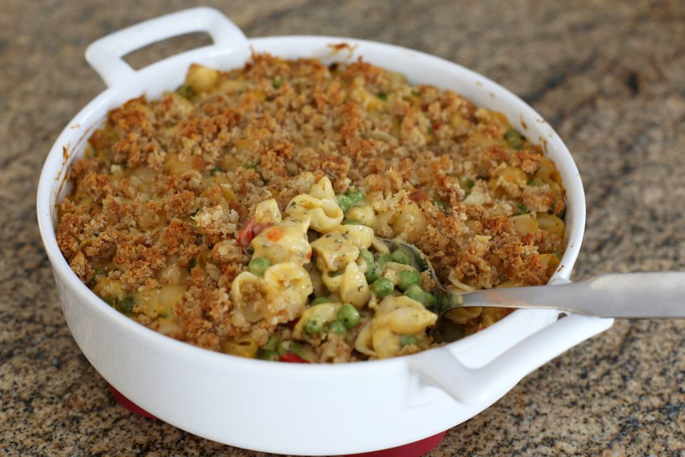 Shells and Cheese Casserole With Chicken