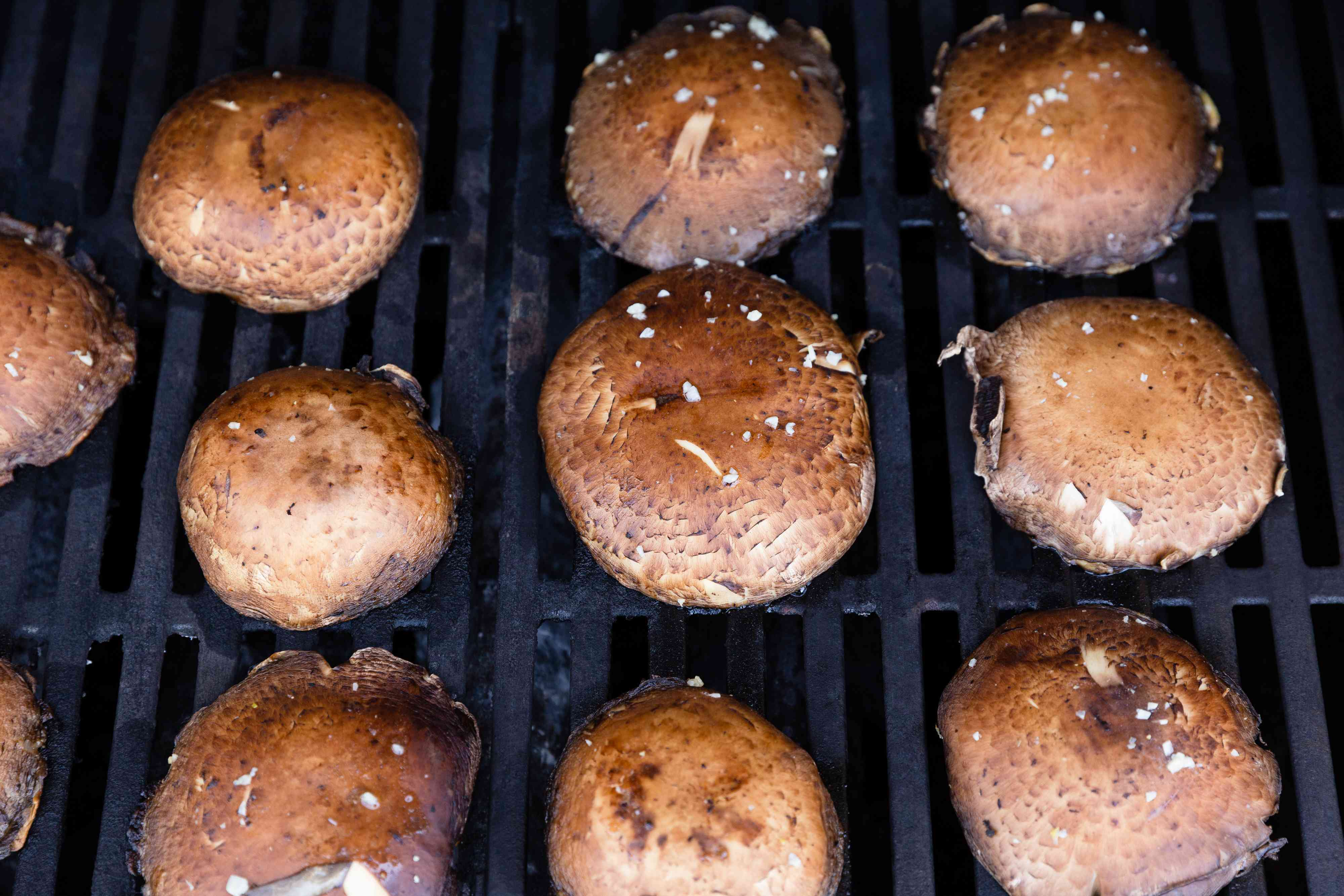 mushrooms on the grill