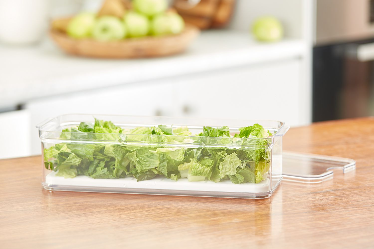 lettuce in an idesign and the spruce home organization line container, available at lowe's