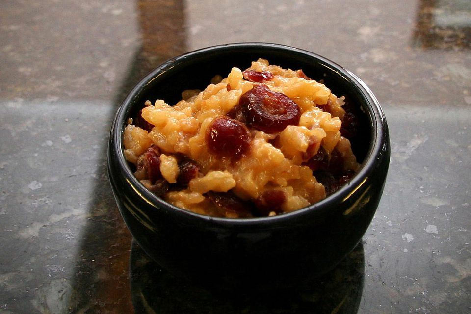 Slow Cooker Rice Pudding With Mixed Berries