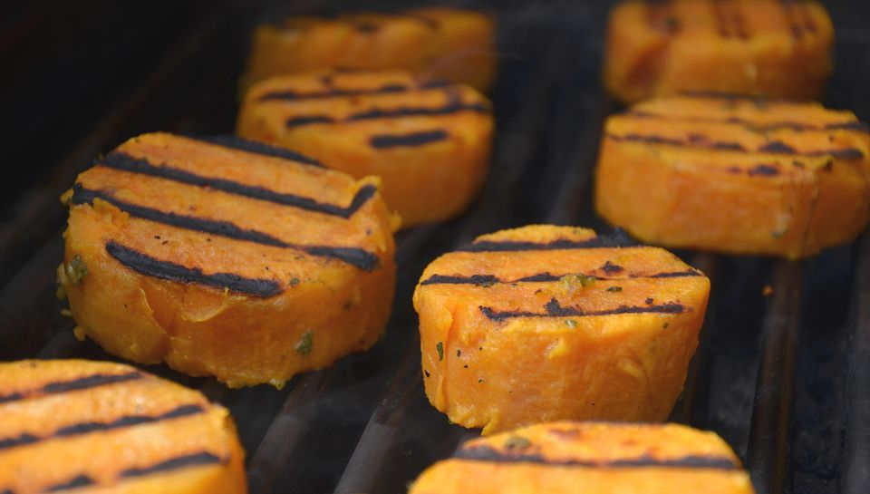 Honey Grilled Sweet Potatoes