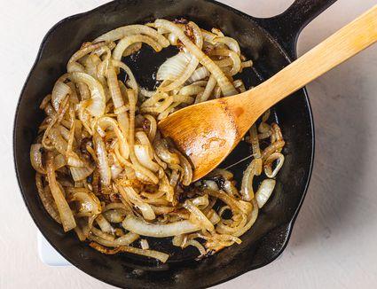 Stir onions