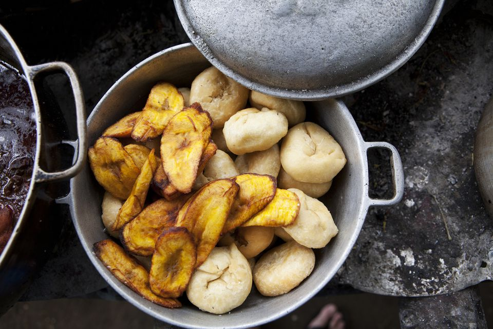 Pot of plantains