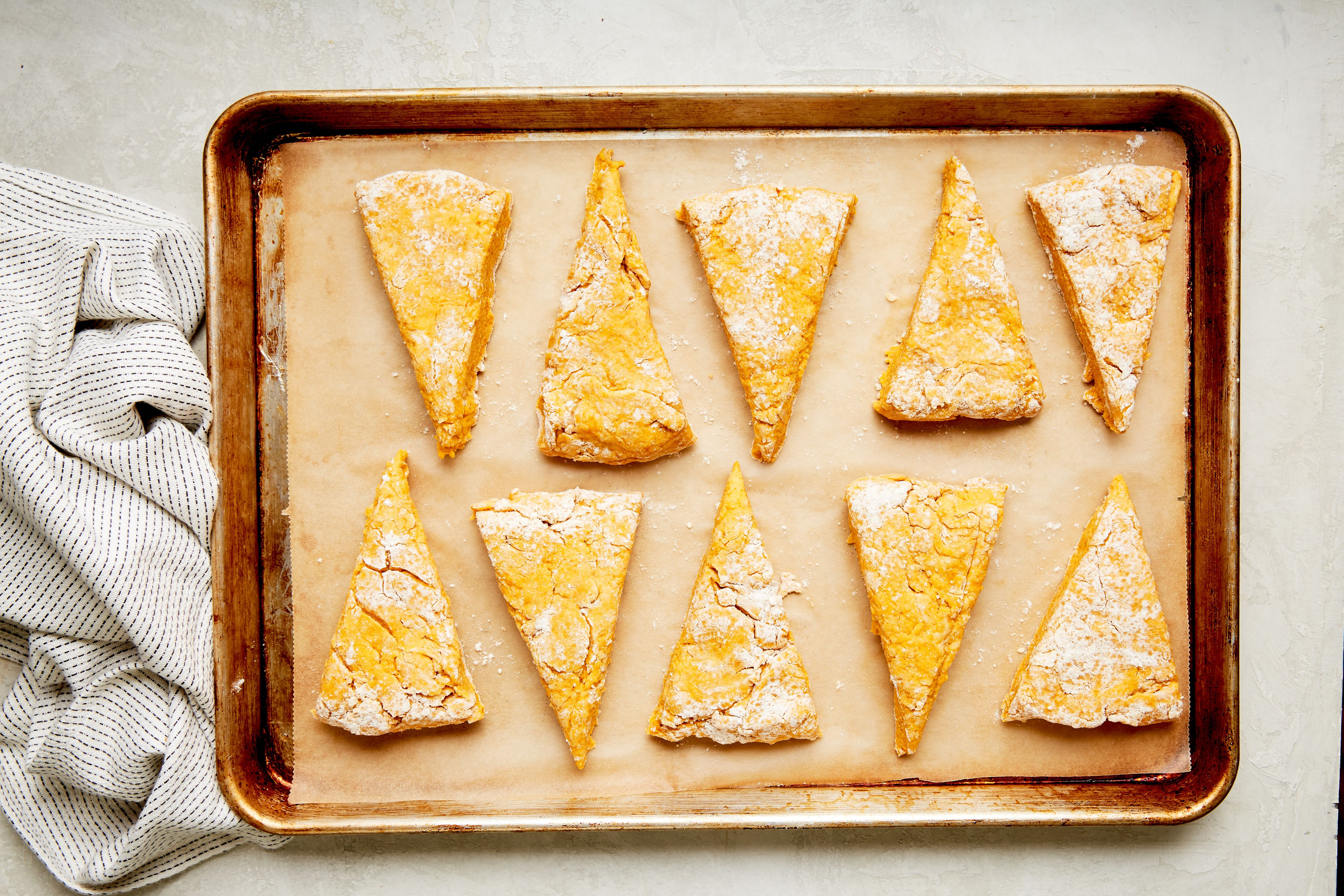 Transfer slices to a baking sheet