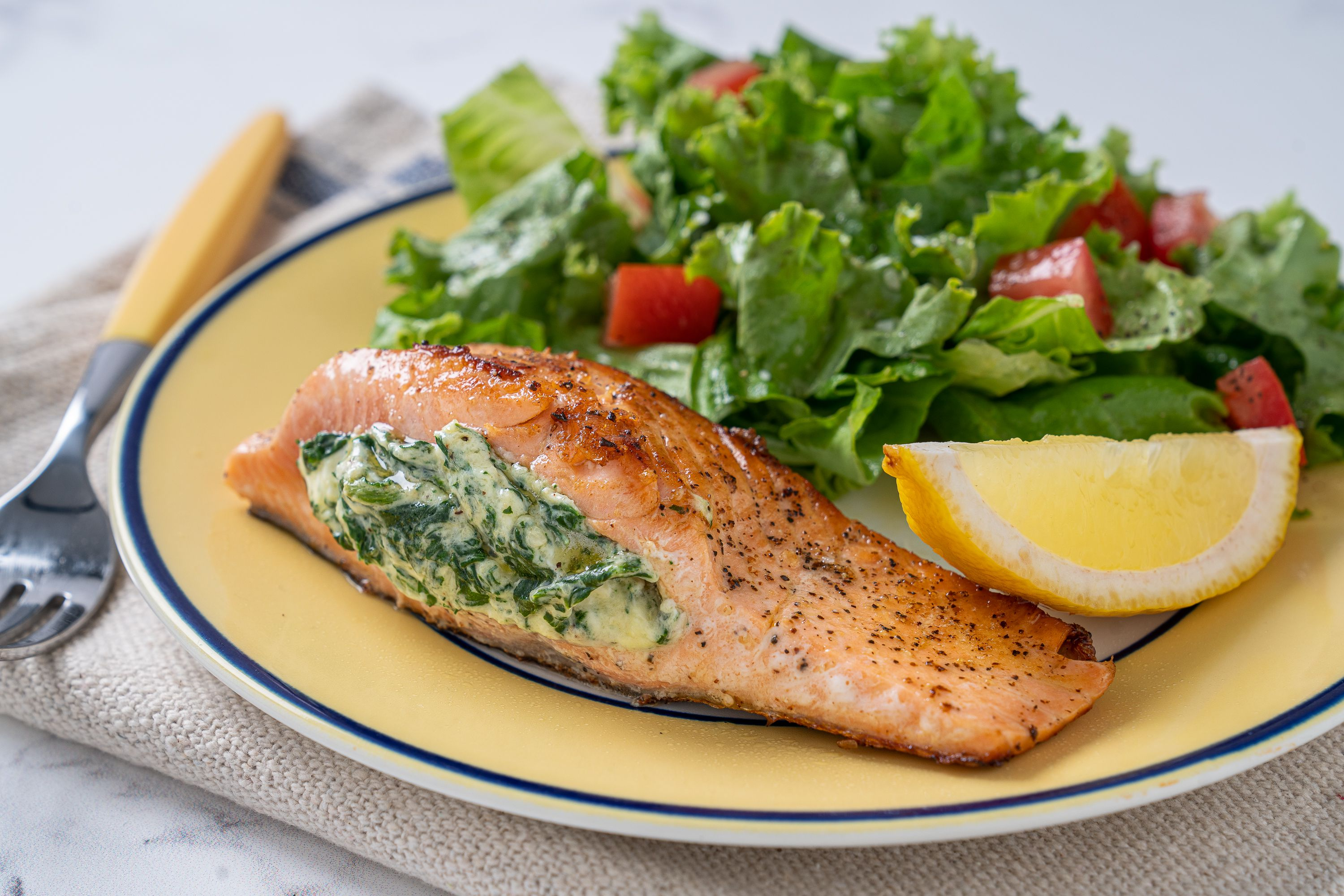 This Recipe Combines Creamed Spinach and Salmon Into One Delicious Entree