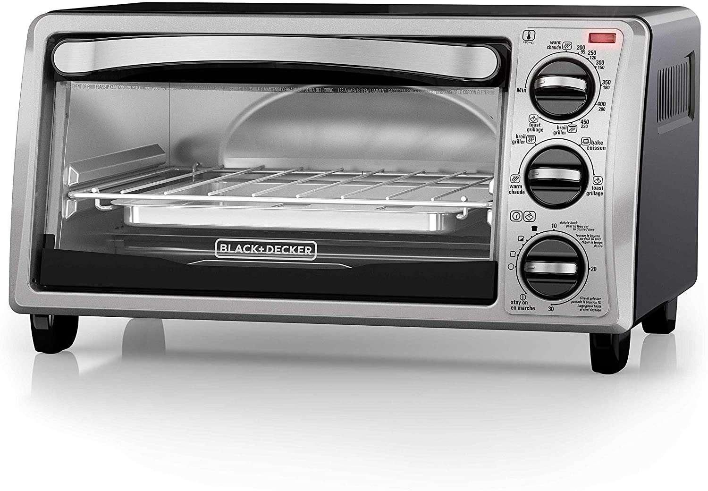 Black+Decker 4-Slice Toaster Oven TO1313SBD