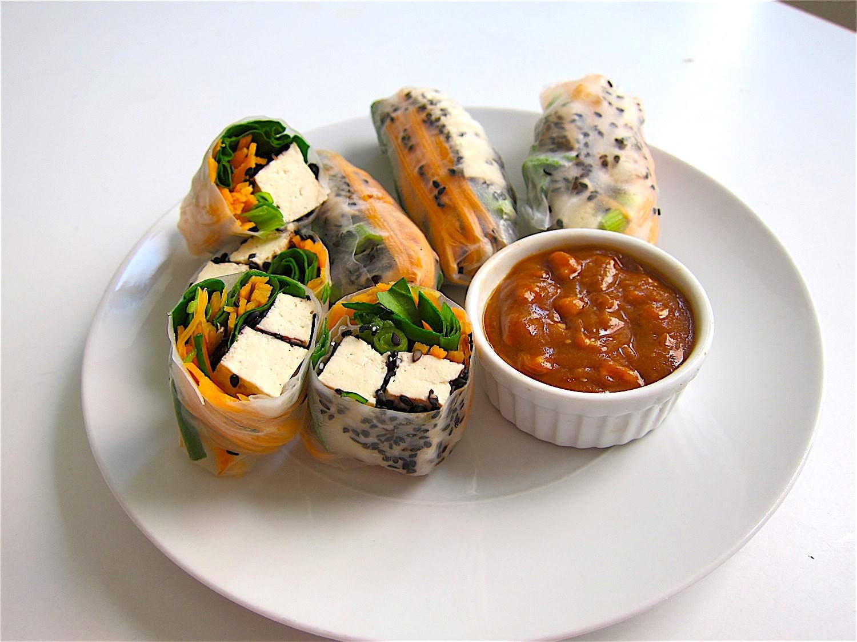 Black Sesame Tofu Summer Rolls