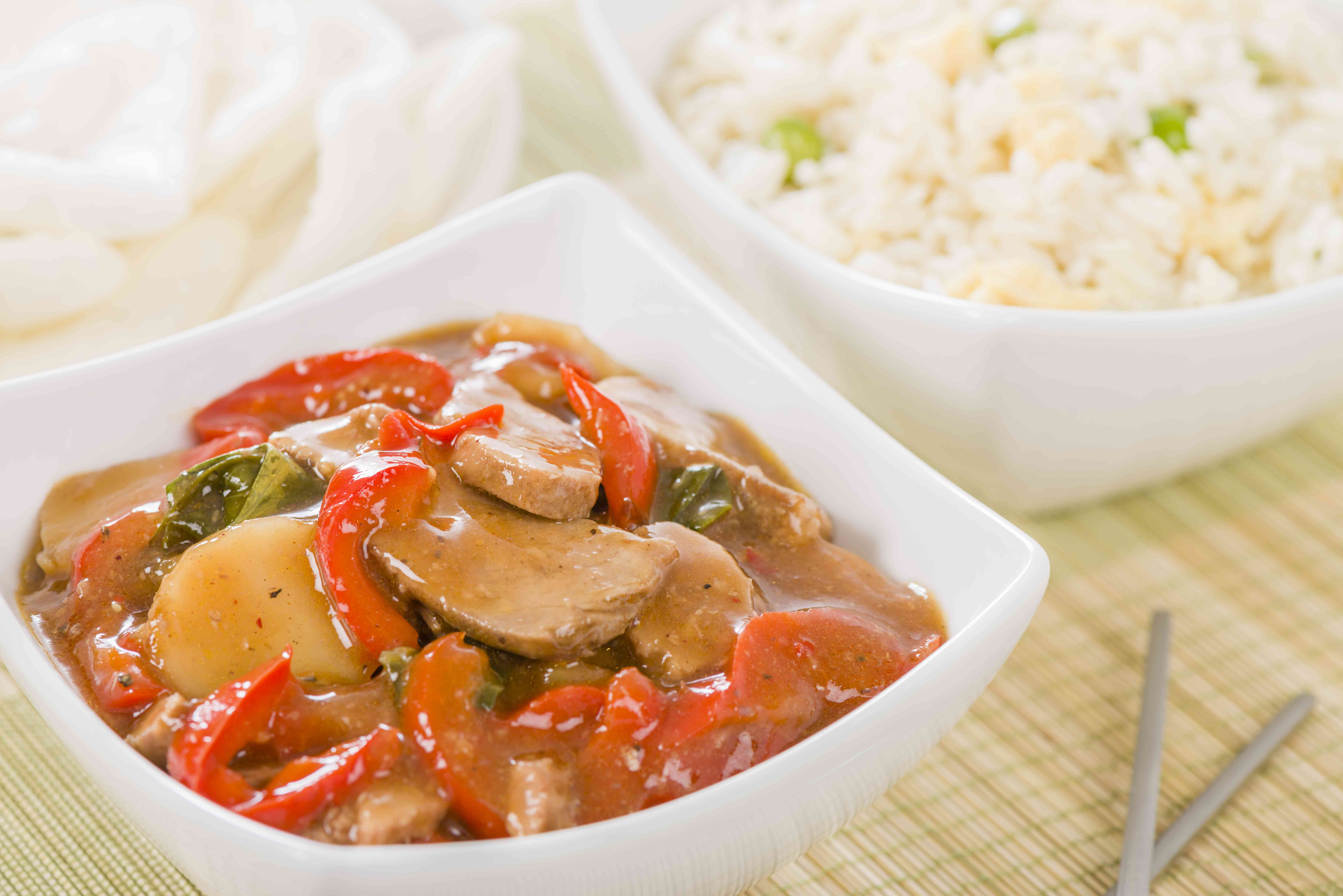 Chinese Pork With Red Peppers