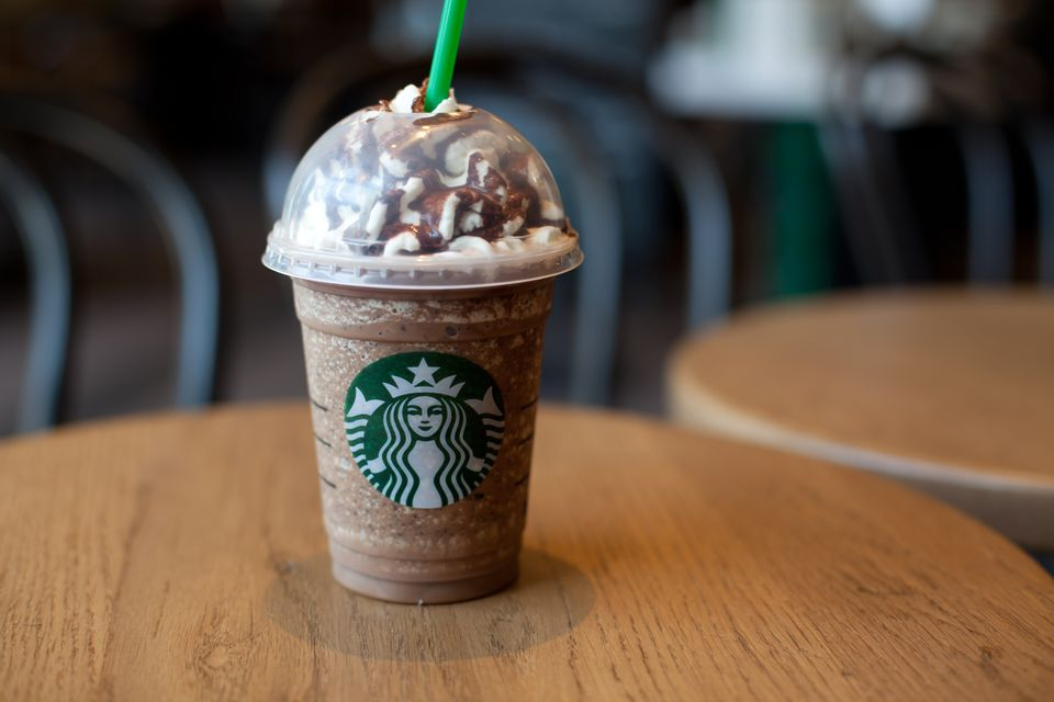 Frappuccino beverage from Starbucks coffee