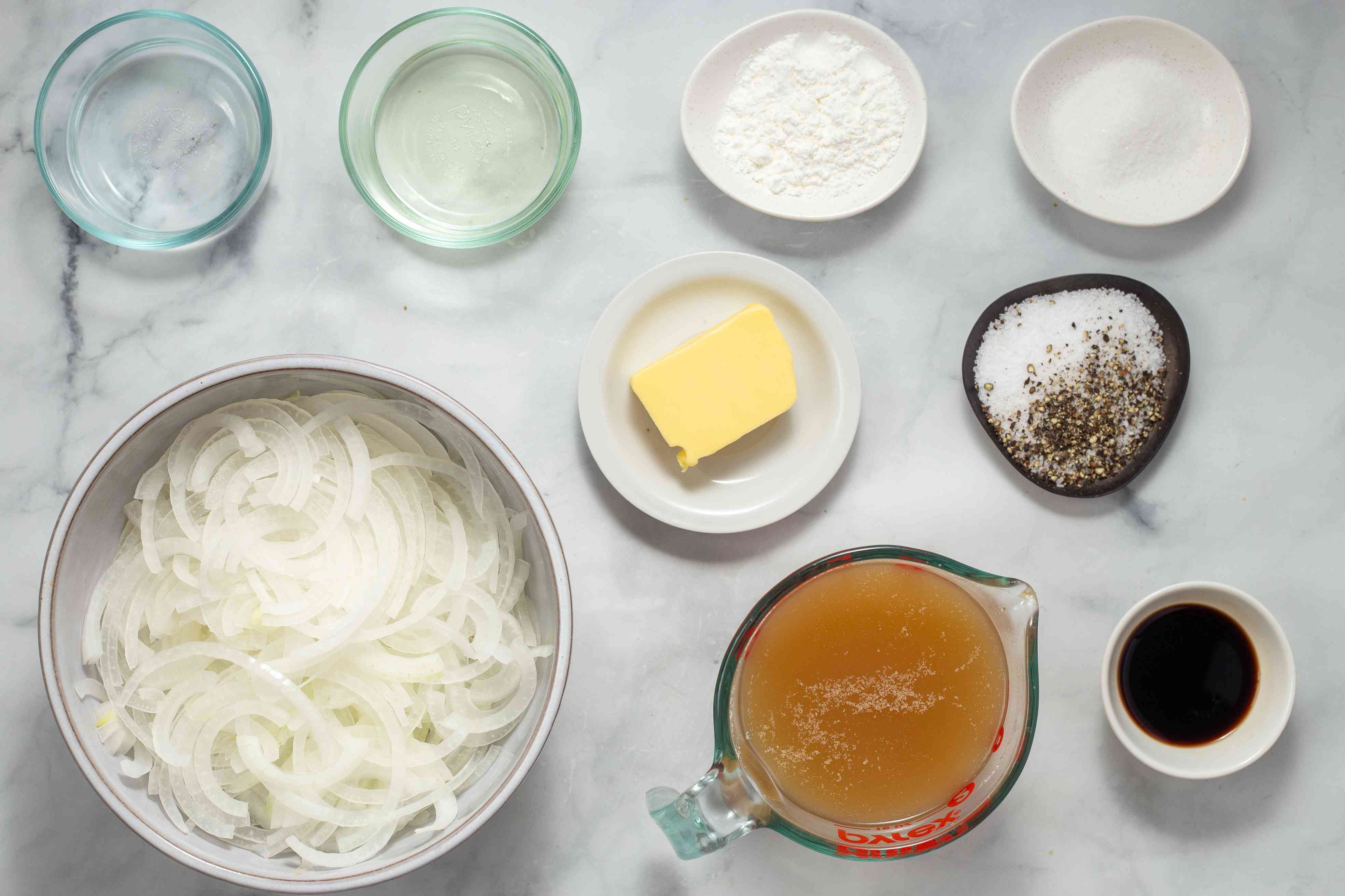 Ingredients for bangers and mash
