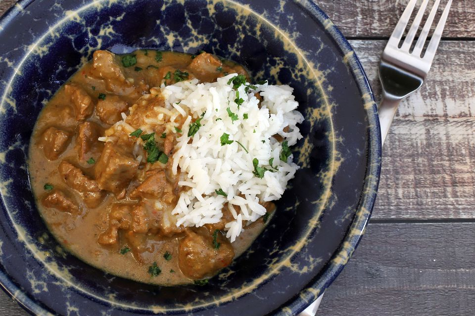 Curry de venado con arroz
