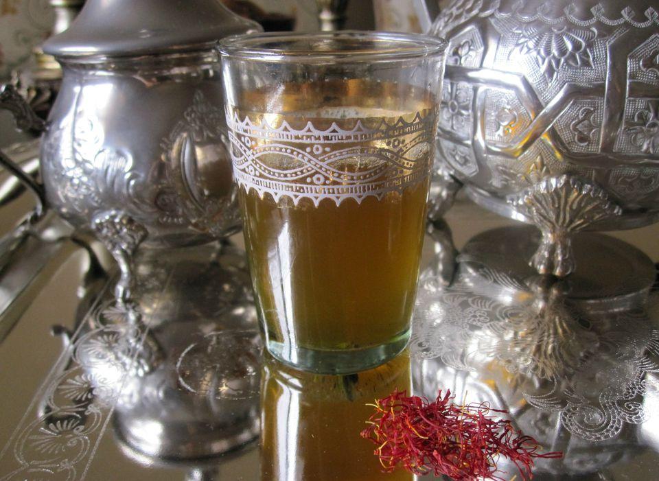 Moroccan saffron tea