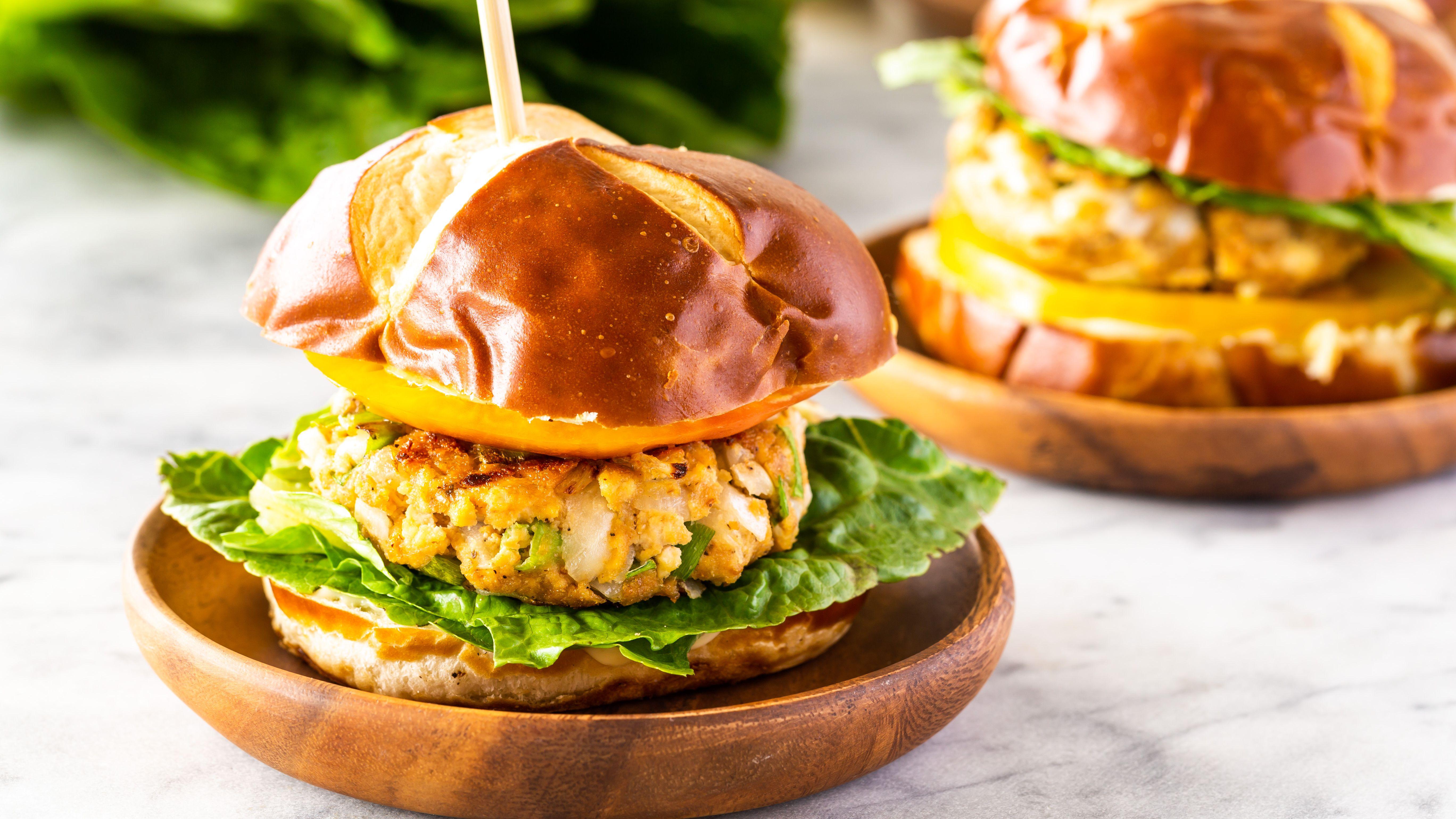 Easy Vegan Tofu Veggie Burger Recipe