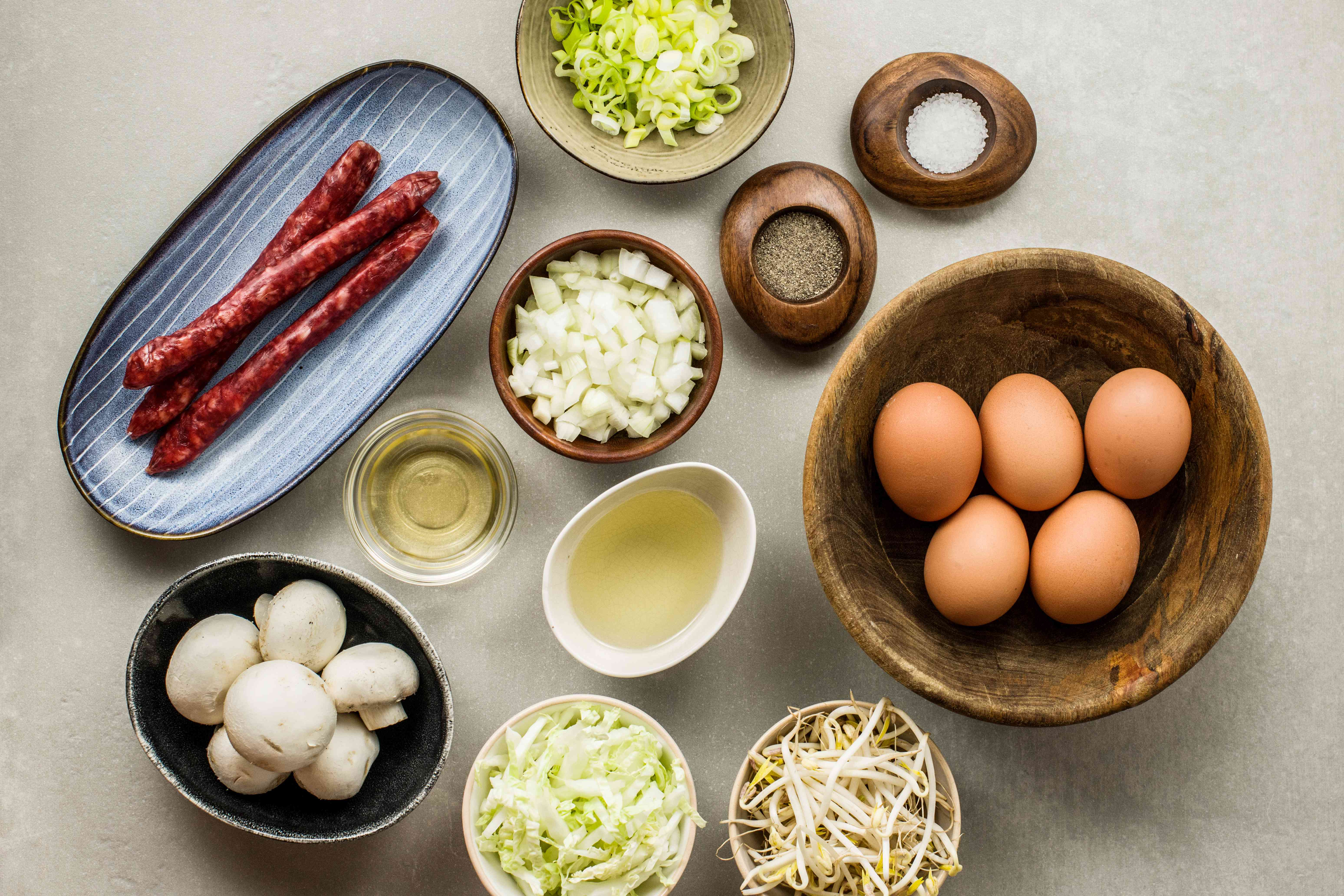 Ingredients for egg foo yung