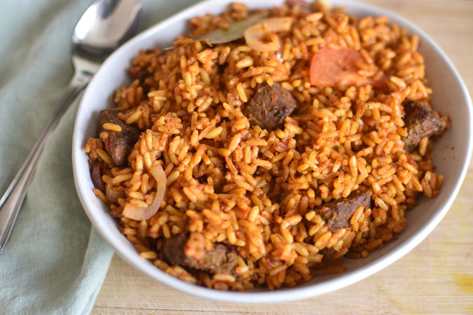 Nigerian Jolla Rice with Beef Recipe