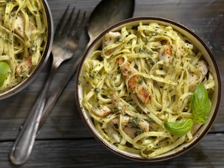 Chicken And Pasta With Lemon Pesto Recipe