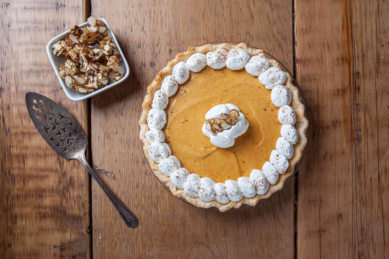 Serve pumpkin chiffon pie