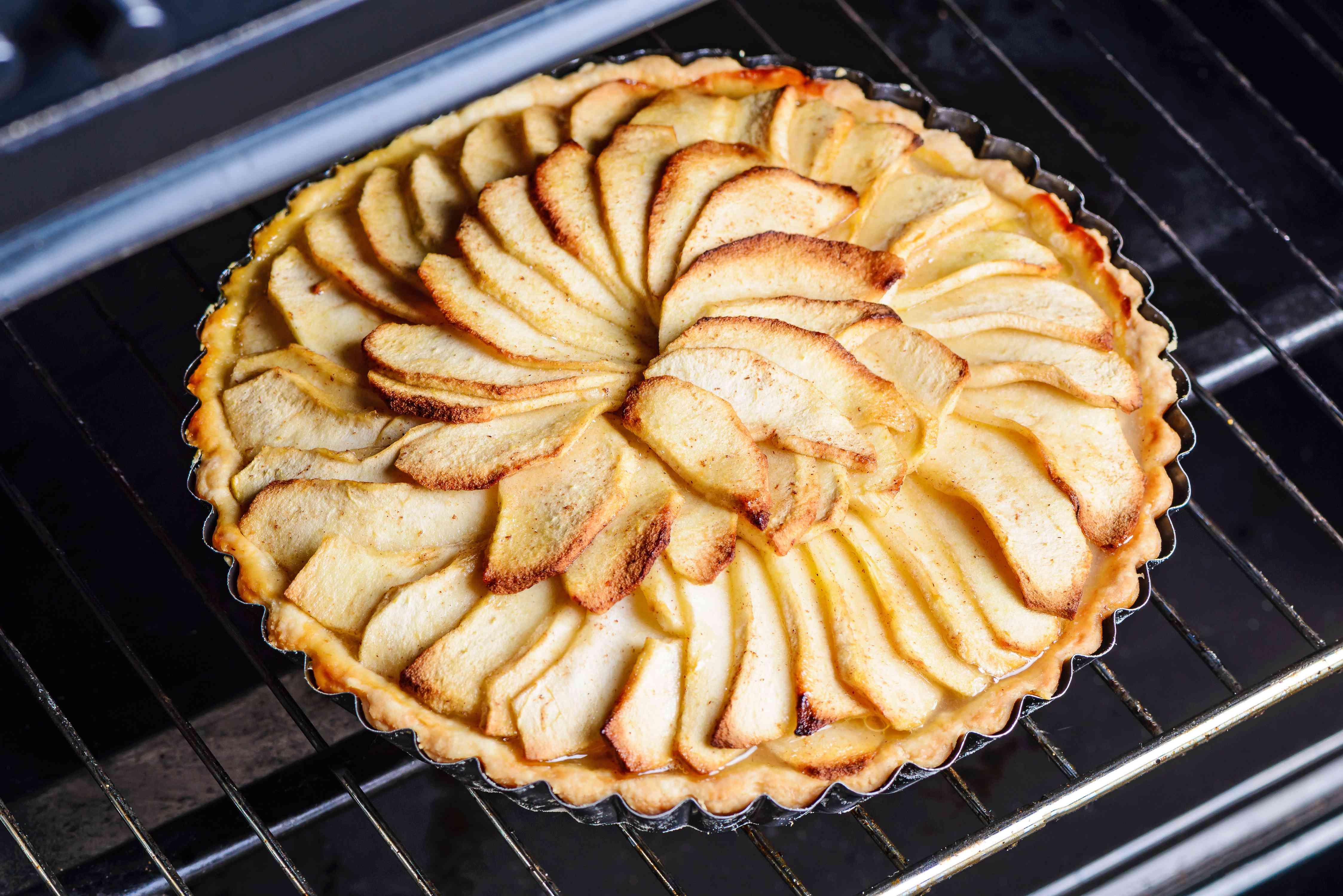 remove foil and bake apple tart more
