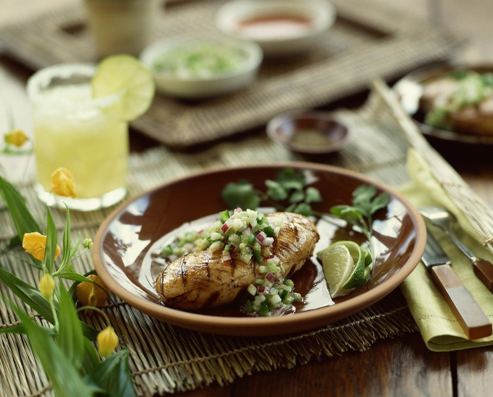 Grilled Tomatillo and Red Onion Relish