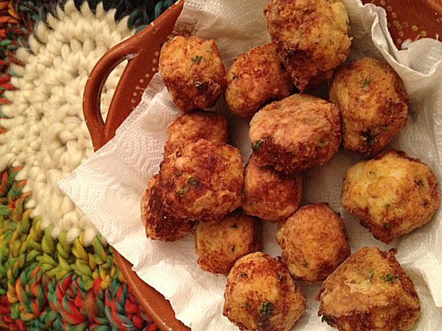 Portugese codfish balls