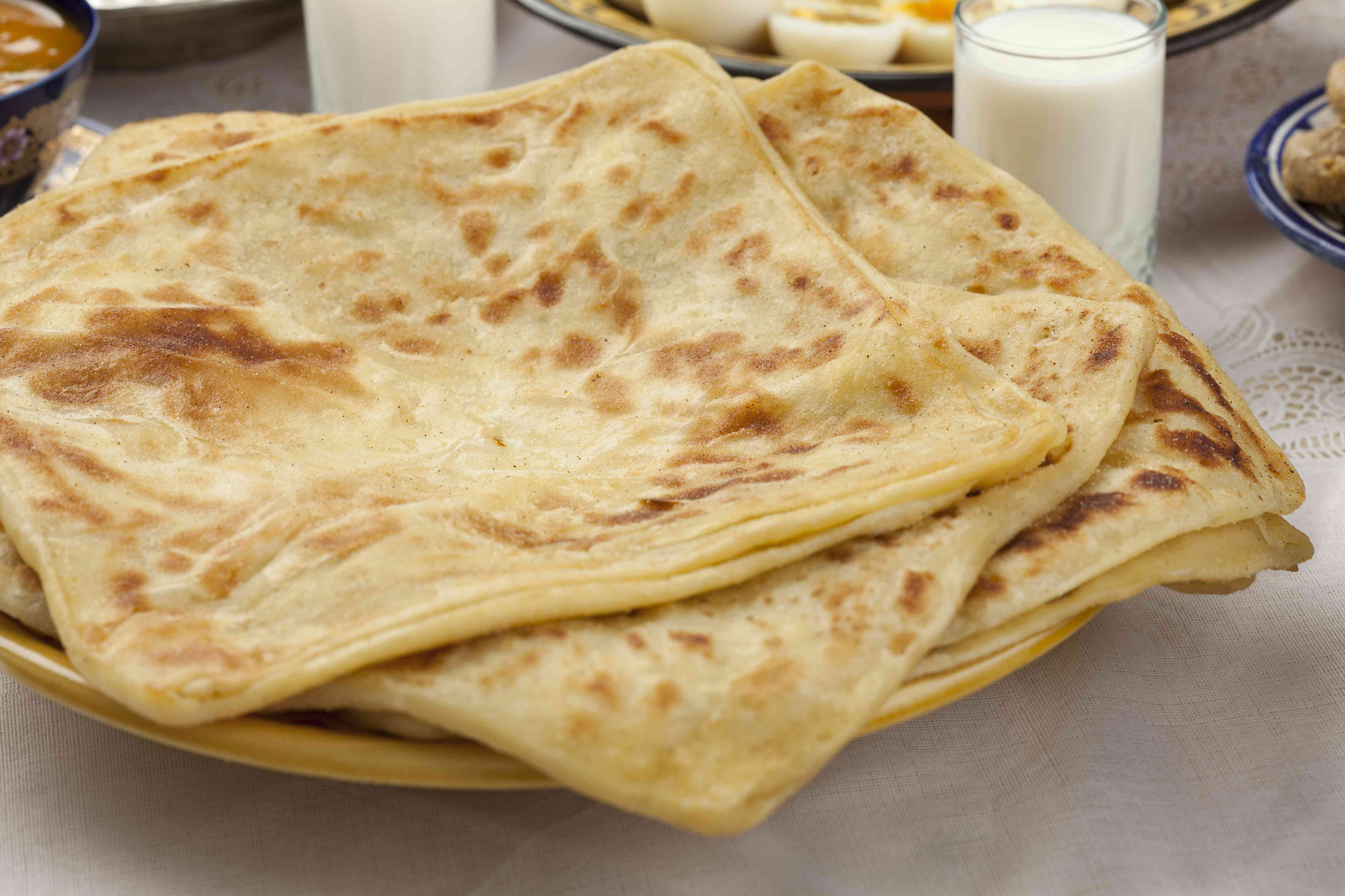 Msemen Square-Shaped Moroccan Pancakes