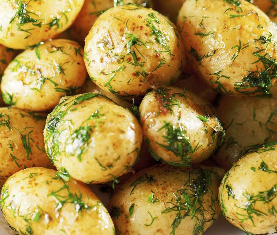 Dill Potatoes Grilled in a Packet