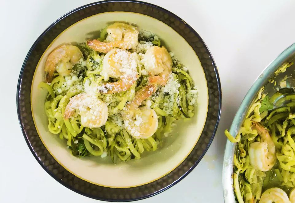 Zucchini Noodles With Shrimp Scampi