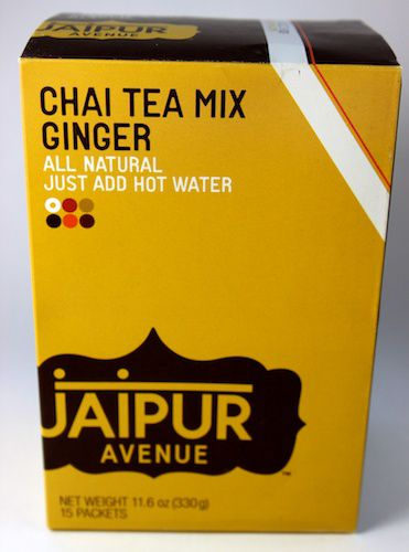 An image of Jaipur Avenue's instant Ginger Chai Mix in a box.