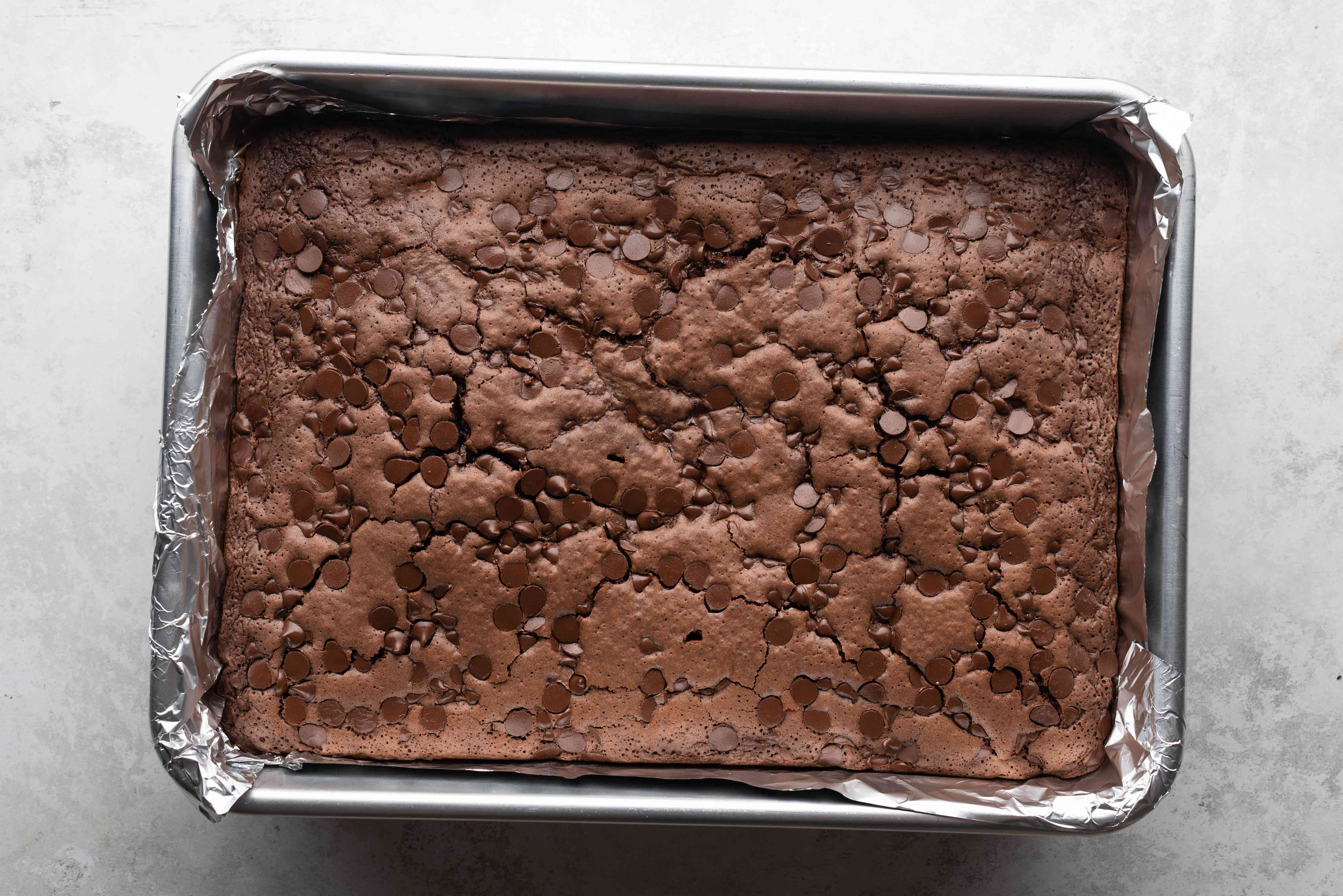 Guinness Stout Chocolate Brownies in a baking pan