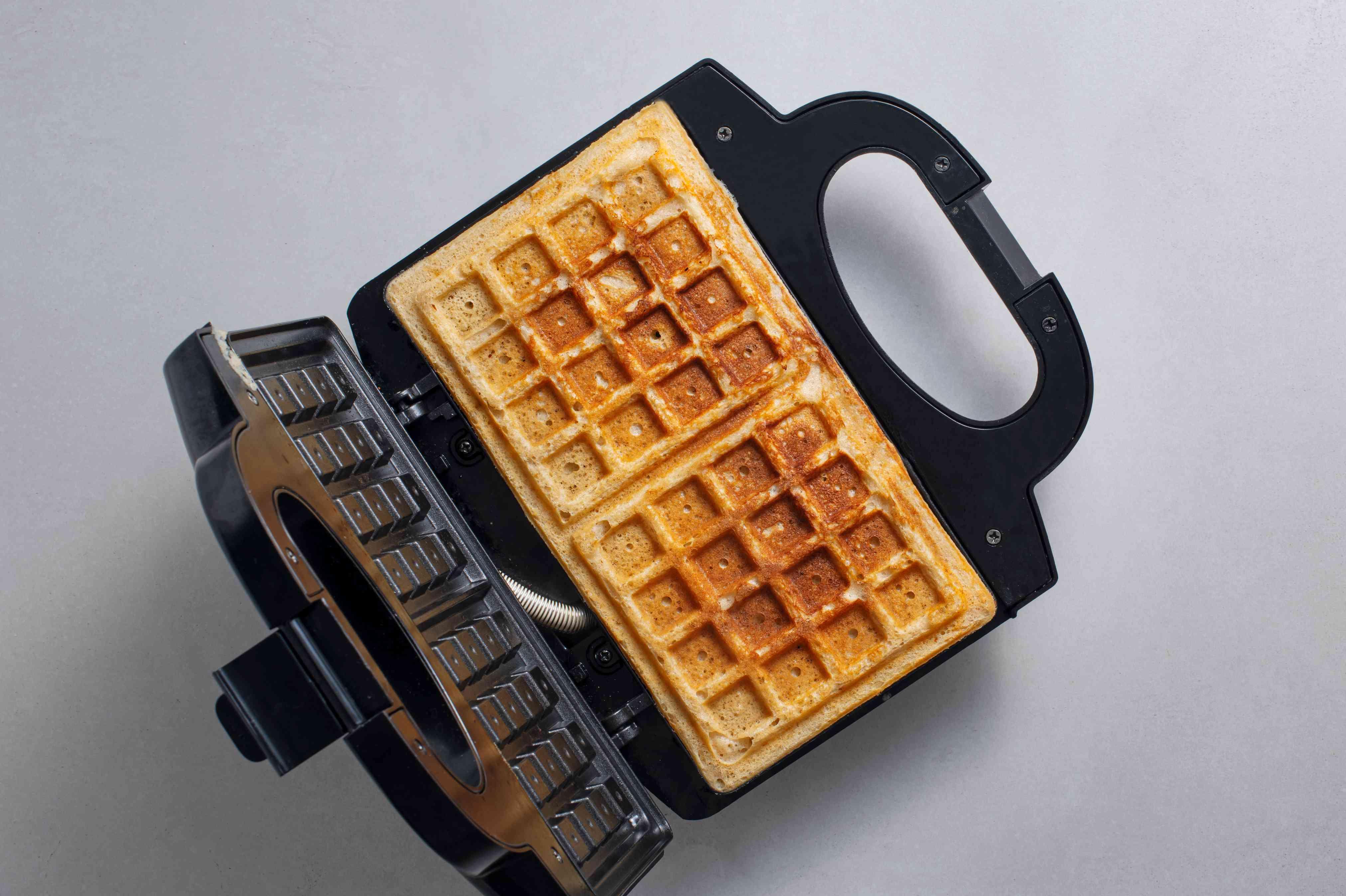 Waffles in a waffle maker