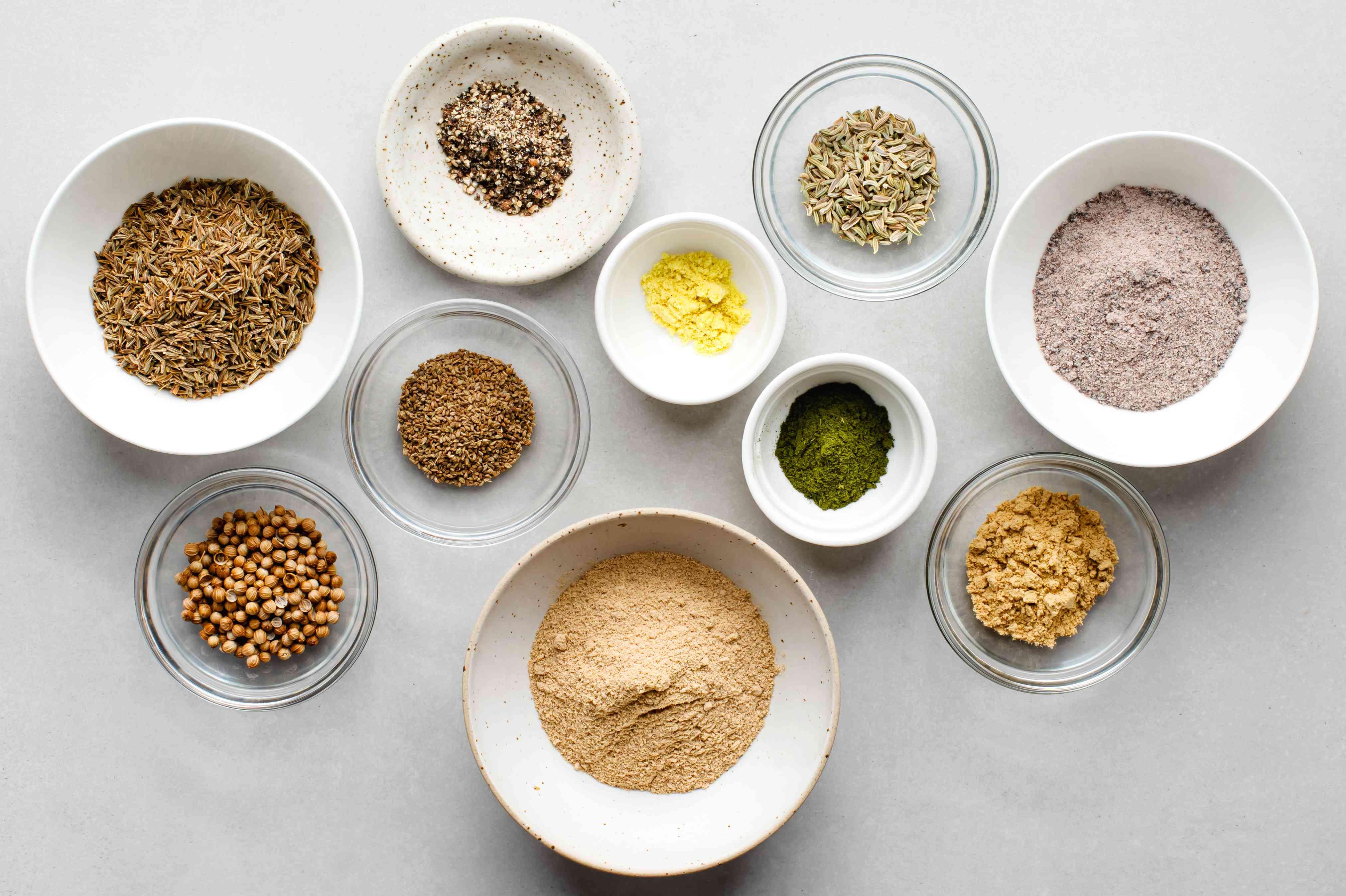Chaat masala ingredients