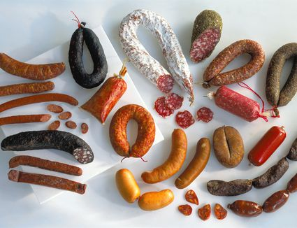 A selection of cured meats