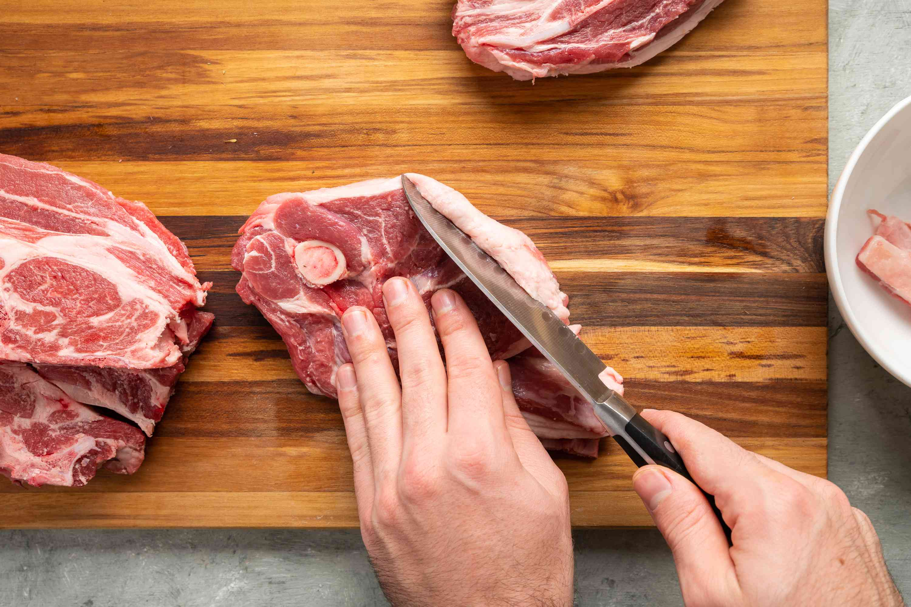 trim fat from the Lamb Chops