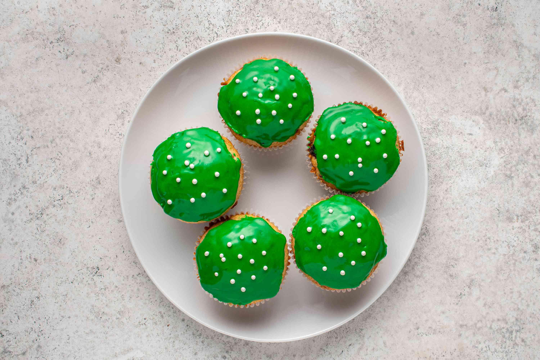 Christmas Cupcake on a plate