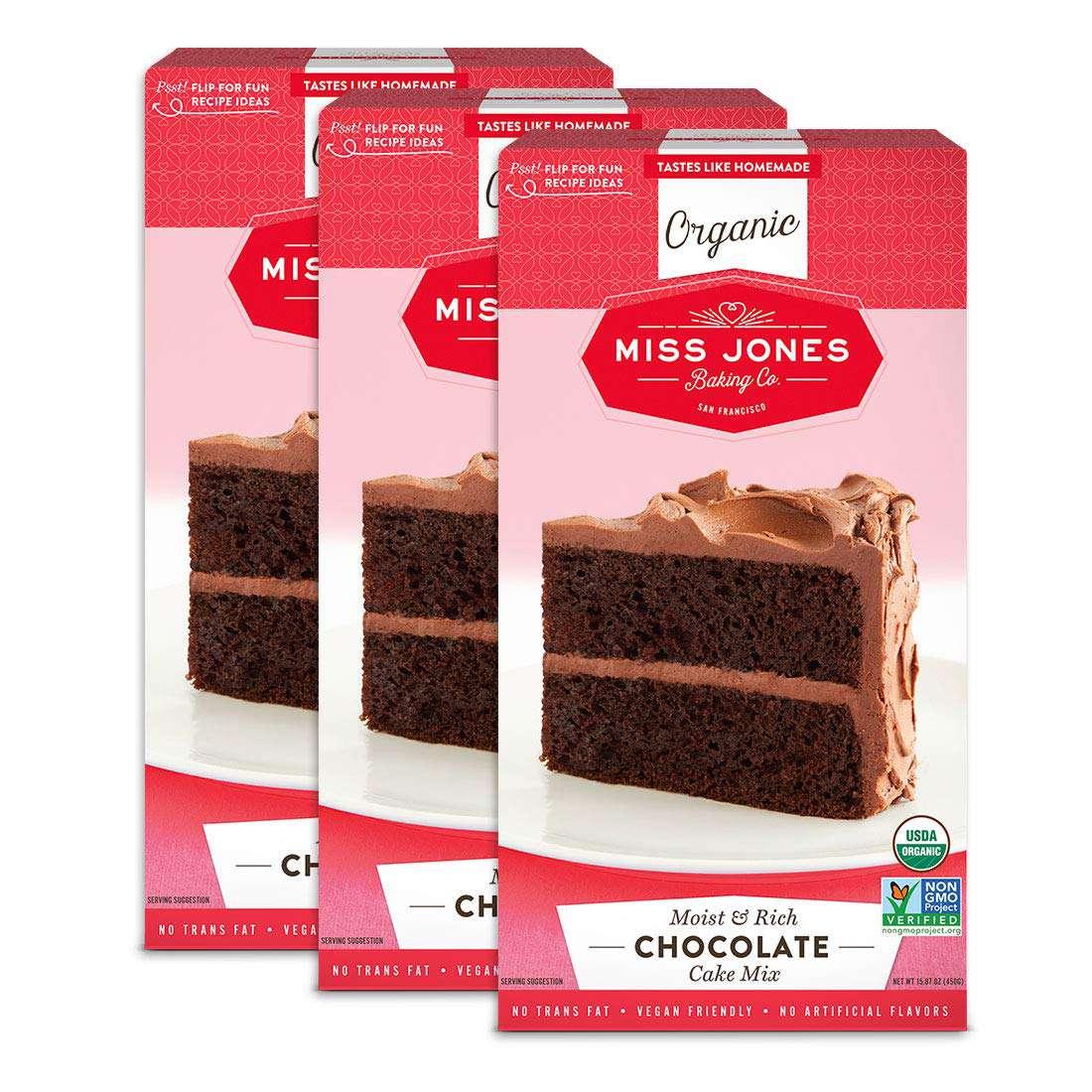 Miss Jones Baking Organic Chocolate Cake and Cupcake Mix