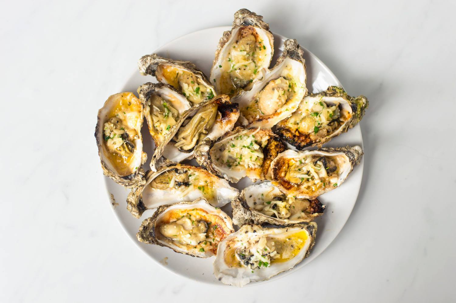 Drago's charbroiled oysters served in the shells
