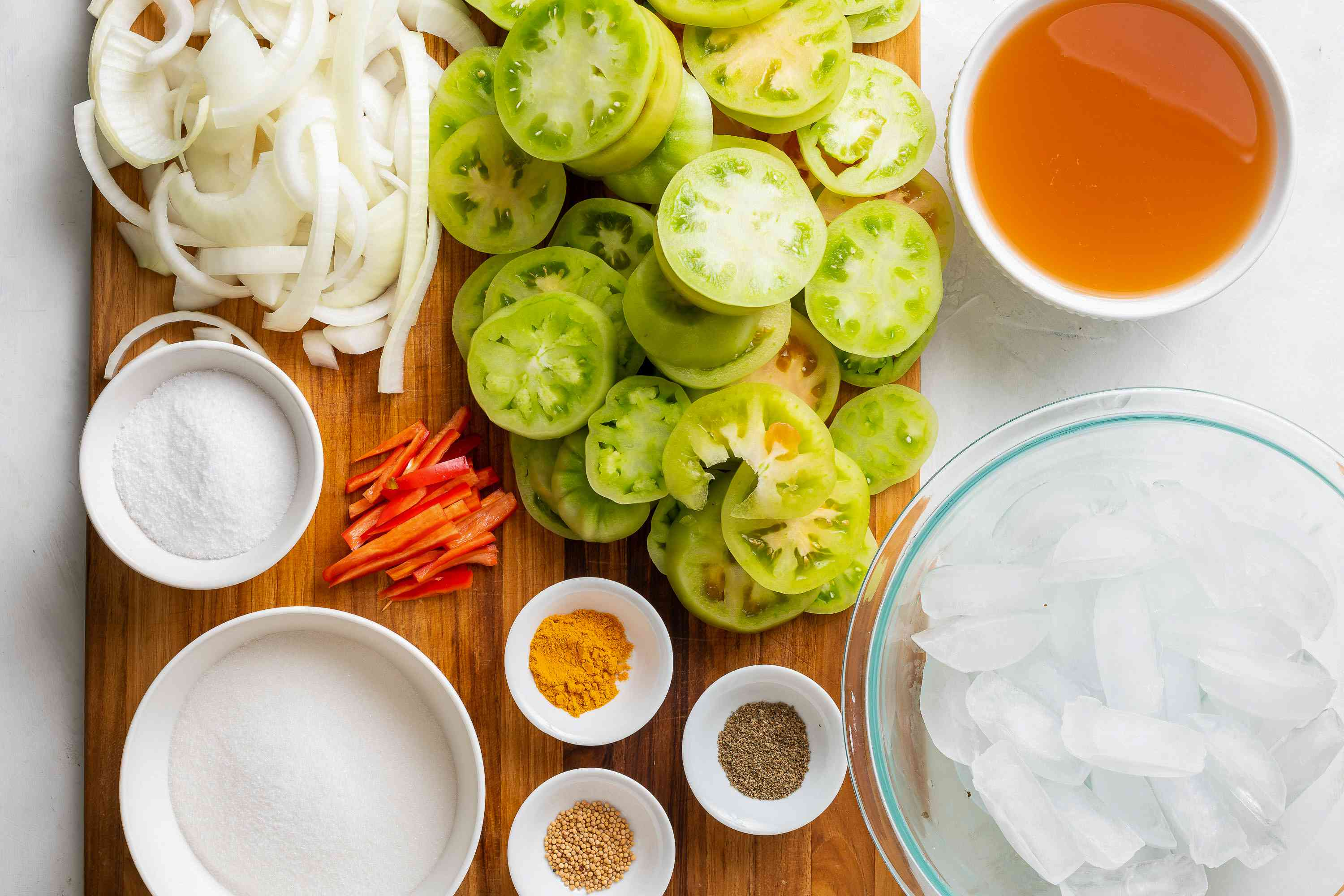 Pickled Green Tomatoes ingredients