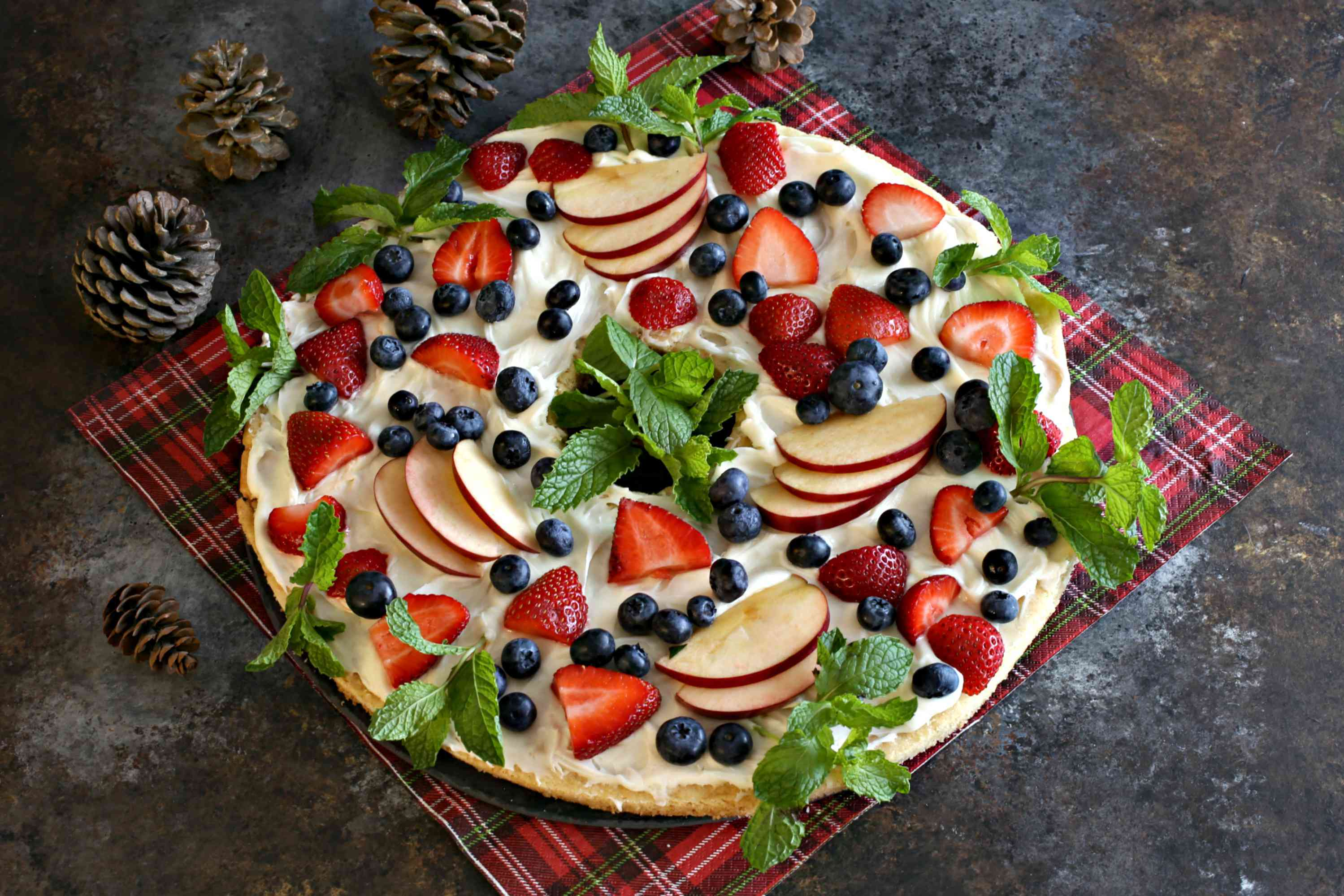 Fruit Cookie Christmas Wreath