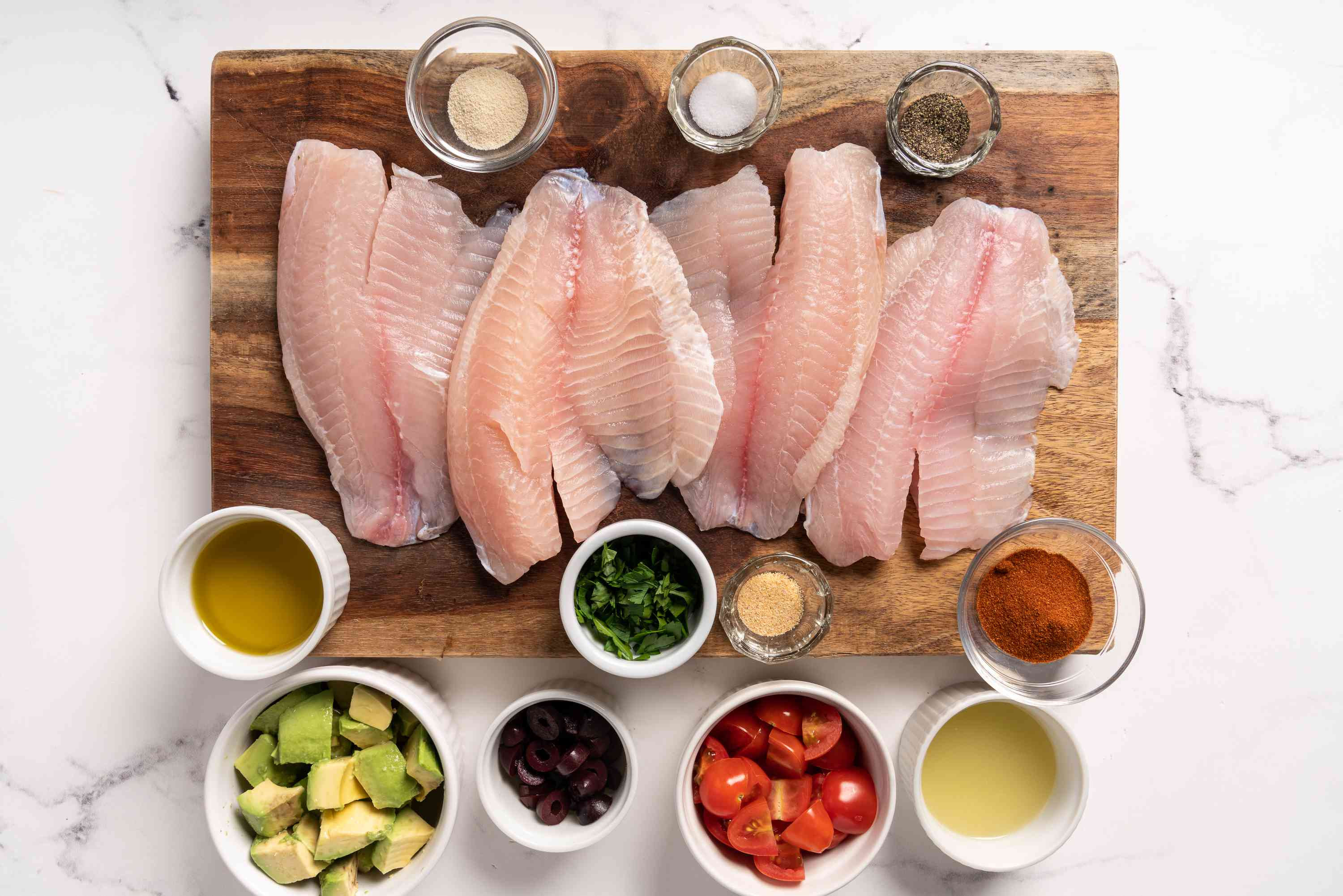 Simple and Tasty Tilapia With Avocado ingredients
