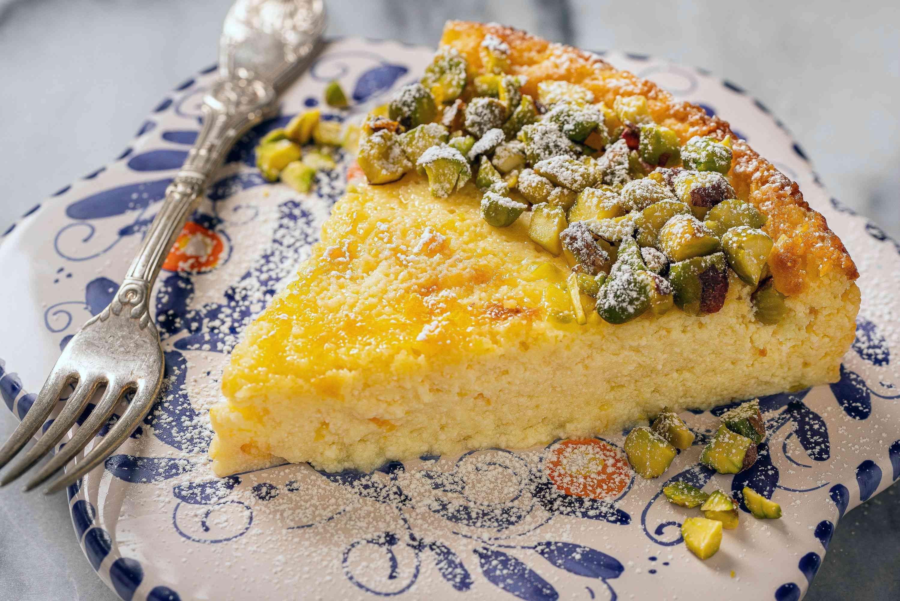 slice of italian cheesecake