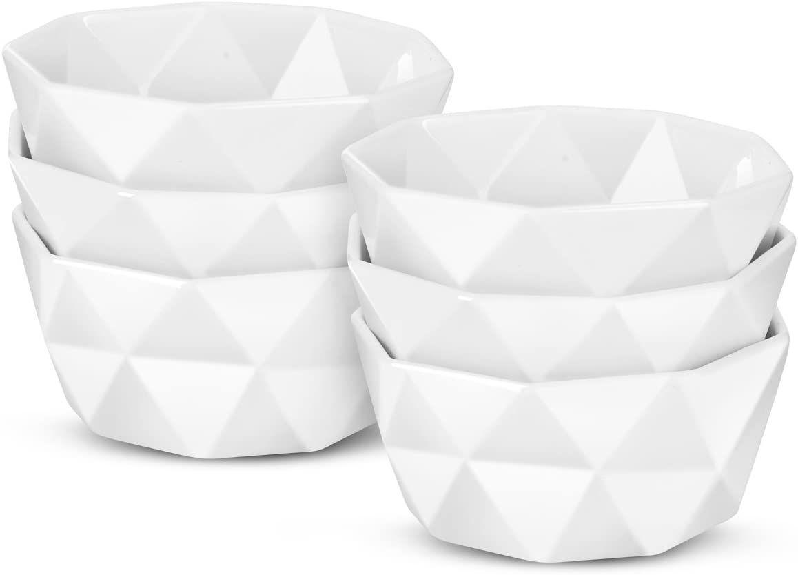Delling Geometric 8-Ounce Porcelain Ramekins