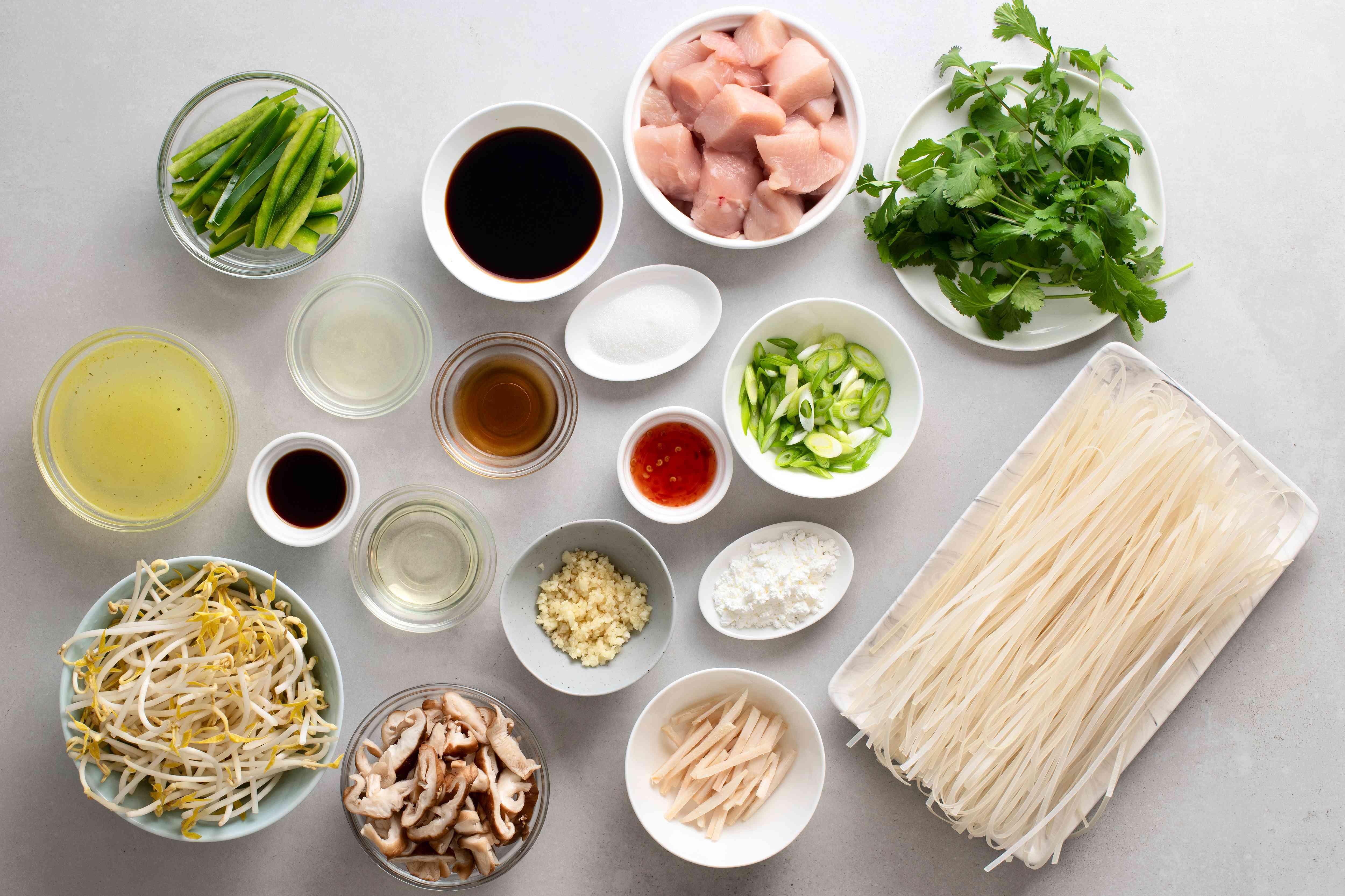 Gluten-Free/Vegan Thai Fried Rice Noodles Recipe ingredients