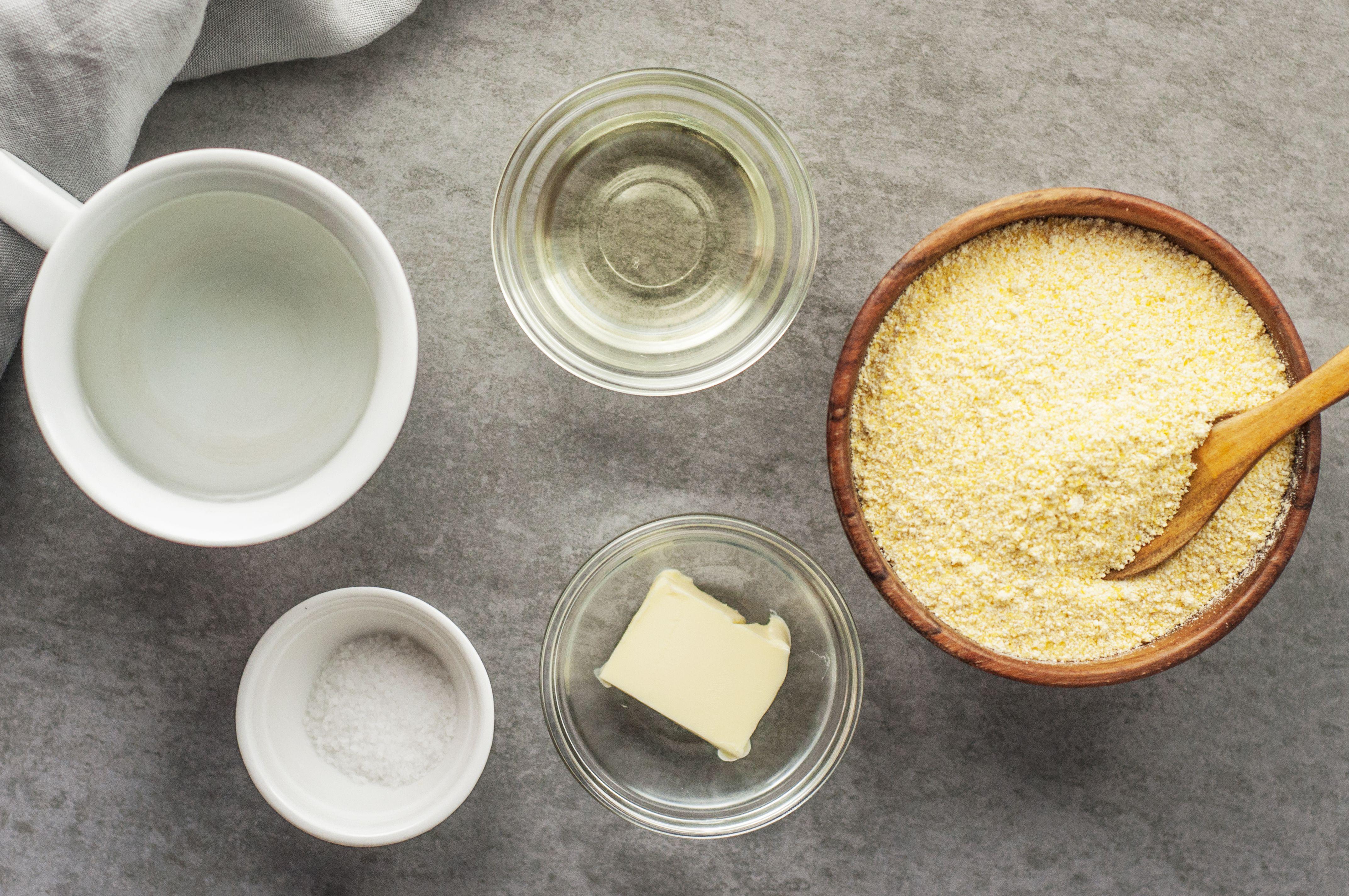 Ingredients for hot water cornbread