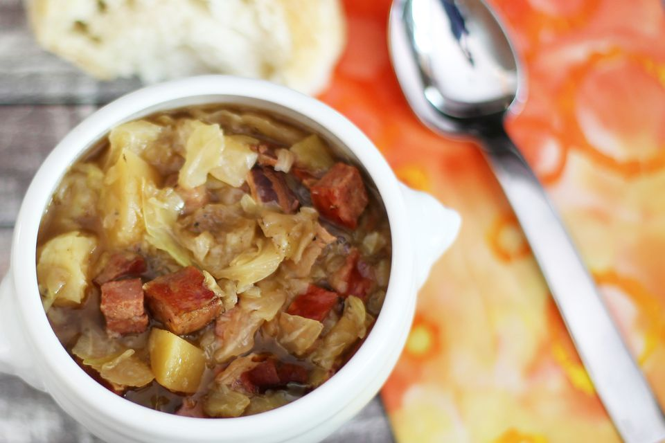 Polish Sausage Soup With Cabbage