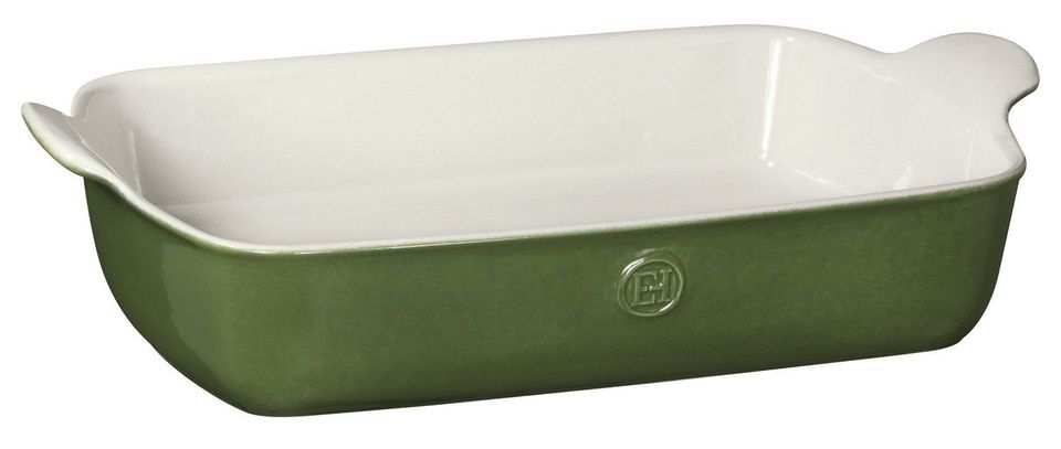 "Emile Henry Made In France HR Modern Classics Large Rectangular Baker, 13 x 9"", Green"