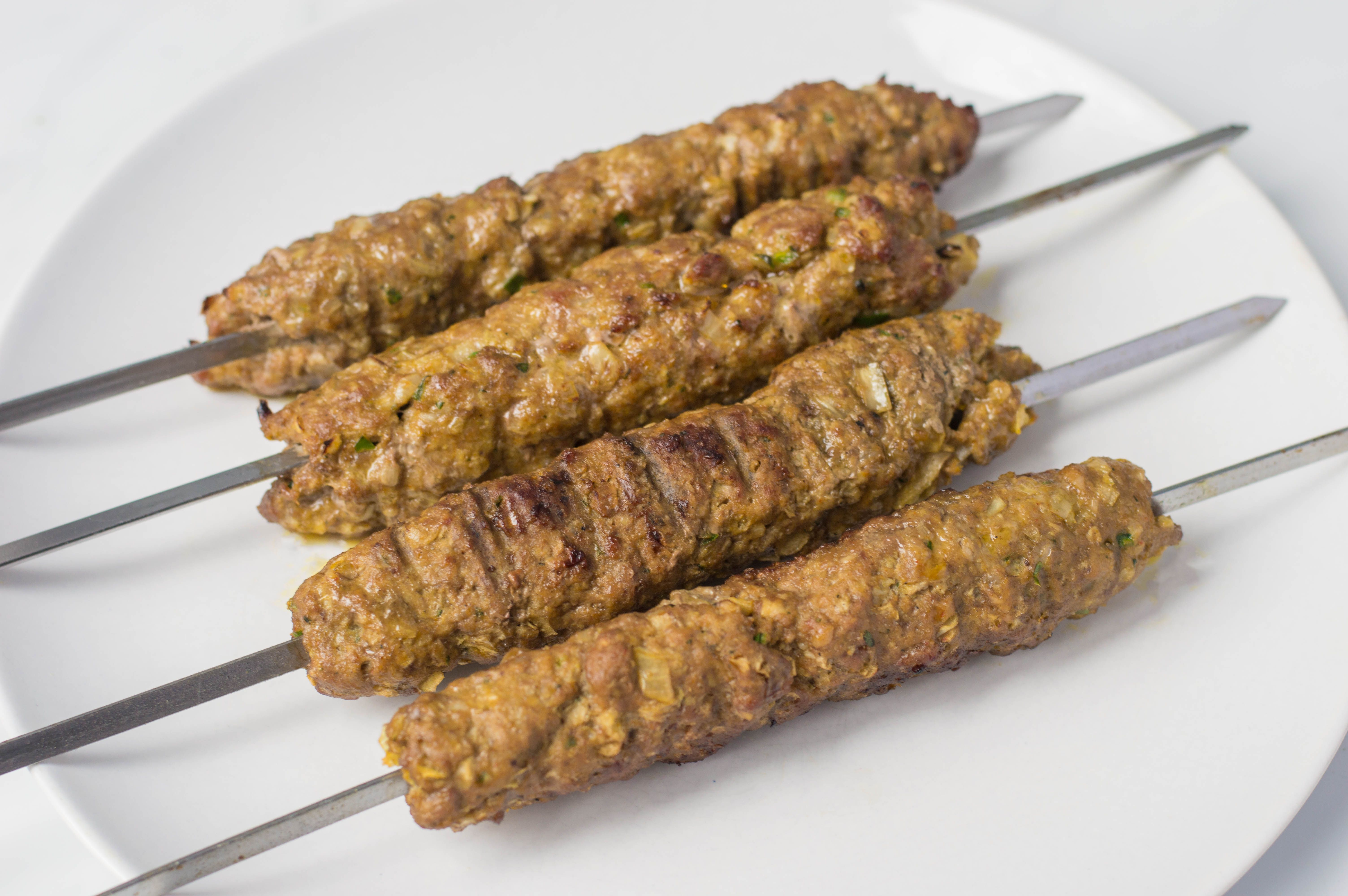 Remove kofta from the skewers
